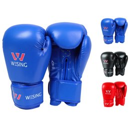 fighting training gear Promo Codes - Kick Boxing Gloves Women MMA Muay Thai Fight Glove Luva De Box Pro Boxing Gloves Fitness Training Gear 10 12 14 Oz