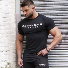 35aeba0ee7f 2018 New summer shirt cotton gym fitness men t-shirt brand clothing Sports  t shirt male print short sleeve Running t
