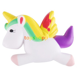 Wholesale cute bread - Cute Unicorn Squishy Squeeze Relieve Stress Slow Rising Kid Toy Collection simulated cake Bread Squeeze Toy 13.5CM 50pcs