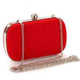 Lindos bolsos azules online-NUEVAS mujeres Noble terciopelo embrague monedero lindos bolsos de noche bolsos nupciales NEGRO / AZUL / ROSA / ROJO bolso de la boda X926