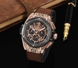 Wholesale Alloy Function - Four-Dimensional AAA Luxury Brand Men's Watch High-Grade Quartz Full Function Business Watch Leather Five Needles Men's Fashion Gift Watch