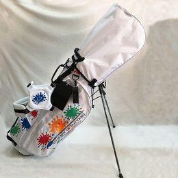 Golfschläger gewicht online-Paint Splash Golf Stand Bag Hochwertige Canvas Sunflower Golftasche Leichte Golfschlägertaschen 2Colors