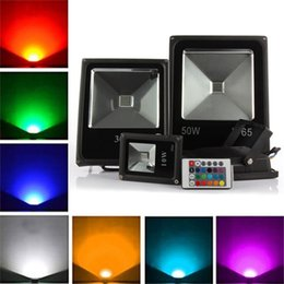 Reflectores para luces led online-1pcs Proyector LED RGB al aire libre 10W 20W 30W 50W IP65 Reflector LED a prueba de agua Lámpara reflectora LED Luz de inundación puntual AC85-265V