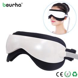 Bicchieri da dc online-Elettrico DC Vibration Eye Massager Machine Music Magnetic Air Pressure Infrarossi Riscaldamento Massaggio Occhiali Eye Care Device