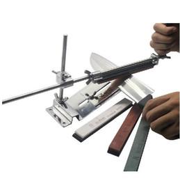 Kit de afilador de cuchillos de ángulo fijo mejorado Acero inoxidable de metal completo afilador piedra de afilar + Piedras de afilar profesionales 4 desde fabricantes