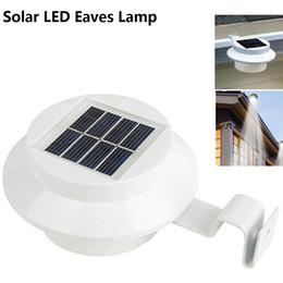 luces de la pared exterior solar Rebajas Lámpara LED de alero solar Lámpara de pared impermeable para interruptores de operación de luz al aire libre para Palisade Corridor Flume Garden Instalación fácil