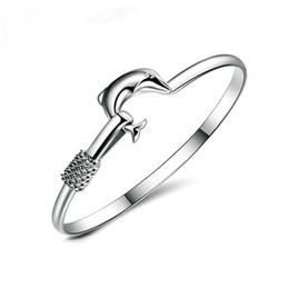 bracelete da jóia da malha Desconto 925 charme pulseira de prata Fine Noble malha pulseira Do Golfinho moda jóias GA150