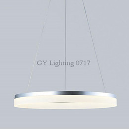 Wholesale Modern Country Pendant Lamp - AC110-240V D20cm D40cm D60cm D80cm ring Pendant Lights LED Modern Lamp Fixtures with Milky Acrylic Lampshade hanglampen industrieel country