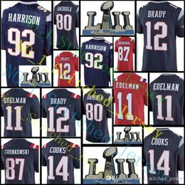 Wholesale Patriots Jersey Xl - New England #92 James Harrison 12 Tom Brady Patriots Jersey Men's 80 Amendola 87 Gronkowski 14 Brandin Cooks stitched Jerseys