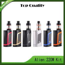 Canada Fumer Alien Kit Alien 220W Kit De Démarreur Avec TFV8 Bébé Bête 3ml Alien 220 Boîte Mod Cigarette Électronique Vaping Kit 0268047 Offre