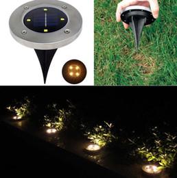 2019 хэллоуин ярдов огни 4 светодиода дисковые фонари на солнечной батарее садовые лестницы лестницы портативные фонари походы кемпинг сад дисковые фонари KKA4494