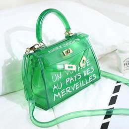 Bolsas de moda clara on-line-Nova moda Satchel Handbag Limpar Geléia Transparente PVC mulheres Saco Doce Cor Tote Bag Designer Bolsa Bolsa Crossbody Bag