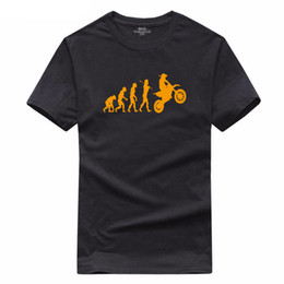 Wholesale Evolution Shorts - summer new brand evolution motorcycle T shirt cotton men short sleeve casual wear plus round neck Evolution creativeT-shirt Tops