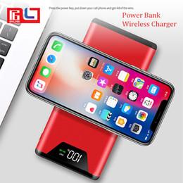 2019 беспроводные адаптеры питания Беспроводное зарядное устройство Qi 10000mAh Power Bank Адаптер для быстрой зарядки для iPhone 8 iphone X Для Samsung S9 Note 9 Корабль за 1 день скидка беспроводные адаптеры питания