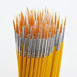 Длинный хвост nylonhair крюк линия пера живопись кисти дети DIY художественные принадлежности инструмент искусства канцелярские акварель живопись pen 10 шт./компл. от