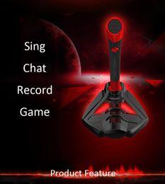 2016 Hot Desktop Microphone Recording Condenser Microphone With Audio Cable Bundle With Iron Desktop Mic Stand Metal Mic cheap iron cable от Поставщики железный кабель
