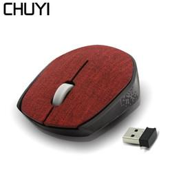 2019 lona coberta de tecido CHUYI USB Optical Mouse Sem Fio Com Tampa Da Tela de Lona 1600 DPI Ergonomia Mause Para Laptop 2018 Novo Mini PC Computador Ratos desconto lona coberta de tecido