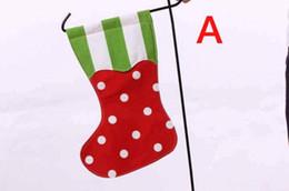 Commercio all'ingrosso della decorazione del regalo di Natale del monogramma della bandiera del giardino della calza di Natale da