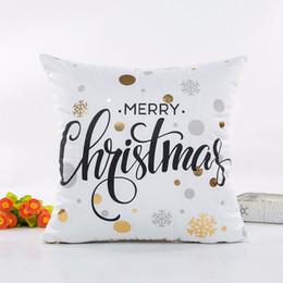 Feliz ano novo natal on-line-New Design Pintura abstrata do Feliz Natal Feliz Ano Novo Capa de Almofada casa throw travesseiro caso abrange Cadeira Assento