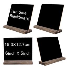cuscino dell'orso polare Sconti Mini Double Side Chalkboard Signs Base in legno di stile vintage Stand Buffet Bar Display messaggi Segni novità decorativa decorativa in stile rustico