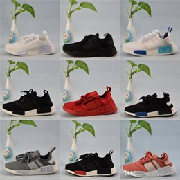 Wholesale Cheap Fashion Sneakers Men - NMD Runner R1 Primeknit 2018 Sneaker Men's Women's Sports Running Shoes Portable Cheap Fashion Sport Shoes Size US5-US11.5