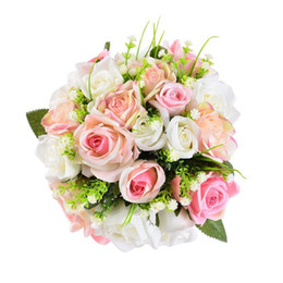 2019 rose rosse rosse Fiori romantici da sposa di alta qualità con bouquet da sposa elegante bouquet da sposa per damigelle d'onore ramos de novia 2018