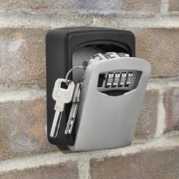 Llave de pared online-Venta caliente Inicio tipo de montaje en la pared caja de almacenamiento de clave al aire libre candado caja de clave contraseña organizador caja T3I0171