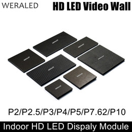 Wholesale P5 Led Display - WERALED P2 P2.5 P3 P4 P5 P6 P10 Indoor Full Color LED Module,SMD 3-in-1 LED Video Wall Display Panel 1 8 to 1 32 Scan