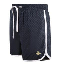 Wholesale Drawstring Pants Fashion Women - New Fashion Women Men's Summer shorts pants male Printing bees brand pants Unisex casual Beach pants GG214