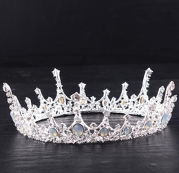 fascinadores lindos Desconto 2018 Chegam Novas de Alta Qualidade Bonita Elegent Headband Acessórios Da Jóia De Cristal De Noiva Tiara Crown Wedding Princess Princesa Coroa Cheia