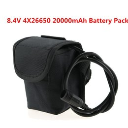 Wholesale Led X3 - 8.4V 20000mAh 26650 Cycling Bicycle Light Battery Pack 4x 26650 Battery With Screw Thread For X2 X3 T6 L2 LED Bike Lights