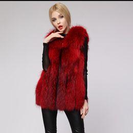 Wholesale Black Mink Vest - Women Vest Mink Coat 2016 Fox Fur Faux Fur Vest Coat For Women Autumn Fashion Long Fluffy Female Warm Slim Outwear Hair Overcoat