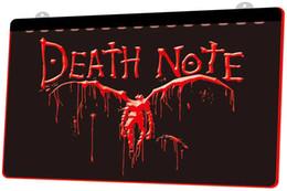 Неоновые ноты онлайн-LS978-r-Death-Note-Notebook-Cosplay-Neon-Light-Sign Decor Бесплатная доставка Dropshipping Оптовая 6 цветов на выбор