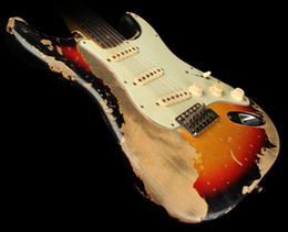 2019 guitarras zakk wylde La tienda de encargo exclusivo Masterbuilt 1964 de Ultimate Relic pesada guitarra eléctrica 3-Tone Sunburst w / Ligera Cuerpo de aliso