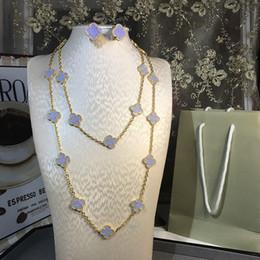 Brincos lapis lazuli jóias on-line-Jóias de luxo Para As Mulheres Natural Azul Lapis Lazuli Flor Wedding Set Jóias 20 Colar De Flores pulseira brinco um conjunto de Jóias