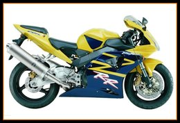 Wholesale cbr954rr plastics - Blue Yellow Hulls For Honda CBR900RR 954 2002 - 2003 Complete plastic Bodywork Motorcycle Injection High Quallity CBR900RR 954 Bodywork