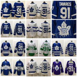 cddc84ce094 Toronto Maple Leafs John Tavares Jersey 91 Blue White Winter Classic  Centennial Classic Arenas 2018 Stadium Series Custom Name Man Woman Kid  leafs winter ...