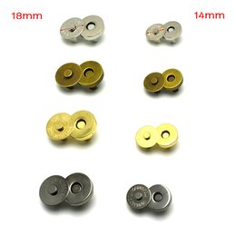 10pcs / lot Chiusura a scatto magnetica Catenacci Bottoni Borsa Borsa Portafoglio Borse artigianali Parti Accessori 14mm 18mm da