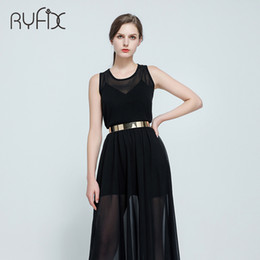 wide metal belt Promo Codes - Women Punk Full Metal Mirror skinny Waist Belt 2018 Metallic Gold Plate 3cm Wide Chains Lady ceinture sashes for dresses BL02-2