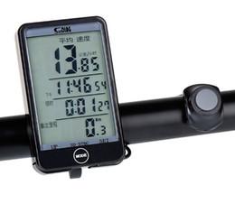 2019 odómetros de bicicleta inalámbricos Sunding 576C Botón táctil Retroiluminación LCD Ordenador de bicicleta Inalámbrico para bicicleta Velocímetro Odómetro Ordenador de ciclismo de alta calidad a prueba de agua odómetros de bicicleta inalámbricos baratos