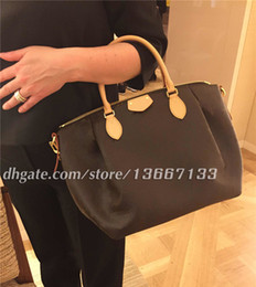 large leather tote bag zipper Promo Codes - 2018 Brand Genuine Leather TURENNE Tote Bag Women Fashion Shoulder Bag Handbags with strap crossbody 48813