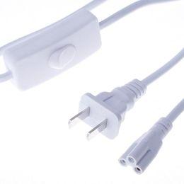 Led-röhren-steckdosen online-T5-Stromkabelanschlüsse für integrierte T8-LED-Röhre 3-Loch-Steckerschalter für Anschlussbuchse