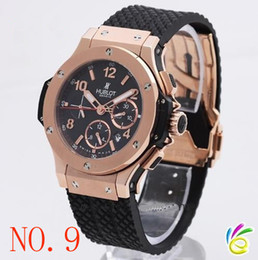Wholesale Band Bang - high quality luxury dress &#72ublot big bang automatic Mechanical black dial men's watch rubber band men watches