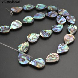 Wholesale Abalone Jewelry Making - Good Quality Natural Abalone Shell Flat Rectangle Loose Beads Jewelry Making Materials