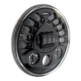 "Wholesale round led headlights - 551321- Model 8790A 12V LED High Low Beam Adaptive Headlight 7"" Round, DOT ECE with Black Inner Bezel"