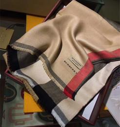 Foulards pour homme en gros en Ligne-Usine en gros de haute qualité écharpe en laine mode Cachemire teints hommes et femmes écharpe à carreaux livraison gratuite