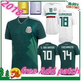 Wholesale Mexico Football Jersey - 2018 2019 Mexico home away soccer jersey 18 G.DOSSANTOS C.VELA Mexico green white shirt CHICHARITO O.PERALTA football Jersey