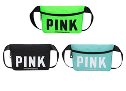 2018 Direct Selling Promotion Gym Wholesale 13 Colors Pink Travel Waist  Pack Beach Women Bag Waterproof Belt Phone Pouch Bags free Shipping f2d1a8640