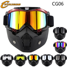 Casco goggles on-line-Hot Promoção Máscara Da Motocicleta Goggles Fiing Rosto Aberto es Glaseese Casco CG06