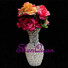 Diseño de jarrón hecho a mano online-Nuevo diseño venta caliente decoraciones de navidad regalos hechos a mano, vidrio fiesta de navidad decoración de la mesa florero de cristal